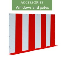 Gate 6x2m, white-red