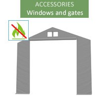 Gate 6m, wiking, gray, entry 4.6m, fireproof