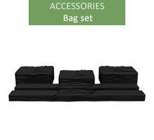 A set of bags for 3m economy and premium tents