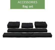 A set of bags for 4m economy and premium tents