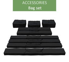 A set of bags for 6m economy and premium tents