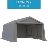 Namiot garażowy 3.3x4.7m, PE, szary, economy