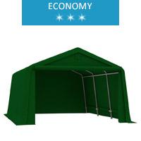 Namiot garażowy 2.4x4.7m, PE, zielony, economy