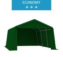 Namiot garażowy 3.3x4.7m, PE, zielony, economy
