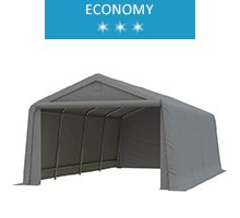 Namiot garażowy 3.3x6.2m, PE, szary, economy