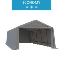 Namiot garażowy 3.3x7.7m, PE, szary, economy