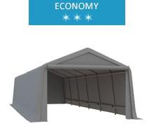 Namiot garażowy 3.3x9.2m, PE, szary, economy