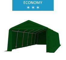 Namiot garażowy 3.3x9.2m, PE, zielony, economy