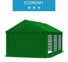 Namiot imprezowy 3x6m, PCV zielony, economy