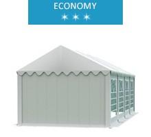 Namiot imprezowy 3x8m, PCV biały, economy