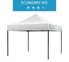 Express tent 3x3m, white, roof, economy HD