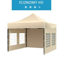 Express tent 3x3 m, beige, economy HD