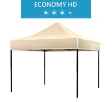 Express tent 3x3m, beige, roof, economy HD