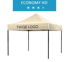 Express tent 3x3 m, beige, roof with your logo