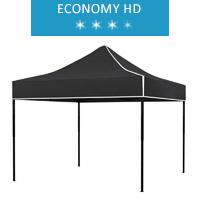 Namiot ekspresowy 3x3m, czarny, dach, economy HD