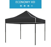 Express tent 3x3m, black, roof, economy HD