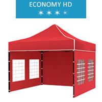 Namiot ekspresowy 3x3m, czerwony, economy HD