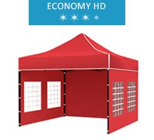 Express tent 3x3 m, red, economy HD
