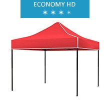 Express tent 3x3m, red, roof, economy HD