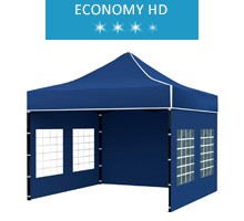Express tent 3x3 m, blue, economy HD