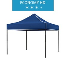 Express tent 3x3m, blue, roof, economy HD
