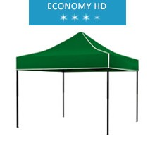 Express tent 3x3m, green, roof, economy HD