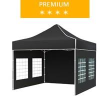 Express tent 3x3 m, black, premium