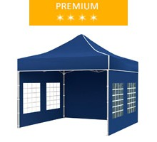 Express tent 3x3 m, blue, premium