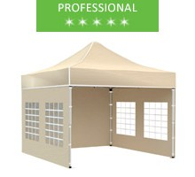 Express tent 3x3 m, beige, professional