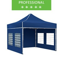 Express tent 3x3 m, blue, professional