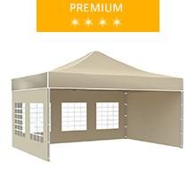 Express tent 3x4.5 m, beige, premium