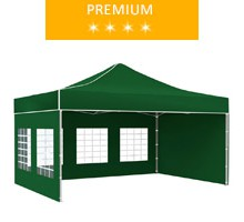 Namiot ekspresowy 3x4.5m, zielony, premium