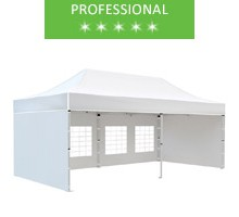Express tent 3x6 m, white, professional