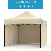 Namiot ekspresowy 2.5x2.5m + 3 ścianki, beżowy, economy HD