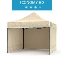 Express tent 2.5x2.5m + 3 walls, beige, economy HD