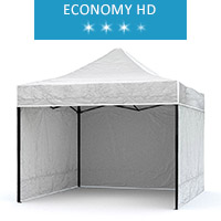 Express tent 3x2m + 3 walls, white, economy HD