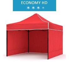 Namiot ekspresowy 3x3m + 3 ścianki, czerwony, economy HD