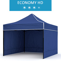 Express tent 3x2m + 3 walls, blue, economy HD