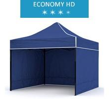 Namiot ekspresowy 2.5x2.5m + 3 ścianki, niebieski, economy HD