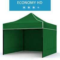 Express tent 3x2m + 3 walls, green, economy HD