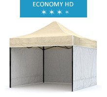 Express tent 3x3m + 3 walls, white-beige, economy HD
