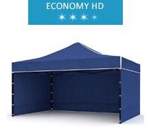 Express tent 3x4.5m + 3 walls, blue, economy HD