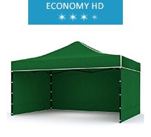Express tent 3x4.5m + 3 walls, green, economy HD