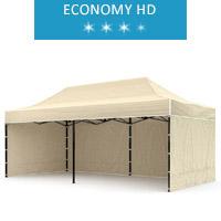 Express tent 3x6m + 3 walls, beige, economy HD