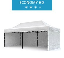 Express tent 3x6m + 3 walls, white, economy HD