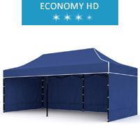 Express tent 3x6m + 3 walls, blue, economy HD