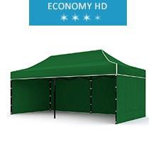 Express tent 3x6m + 3 walls, green, economy HD