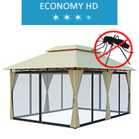 Express tent 3x4 m, beige with mosquito net