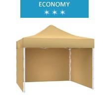Namiot ekspresowy 3x3m + 3 ścianki, beżowy, economy