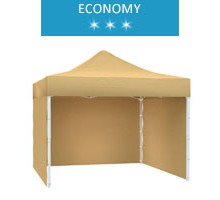 Express tent 3x3m + 3 walls, beige, economy